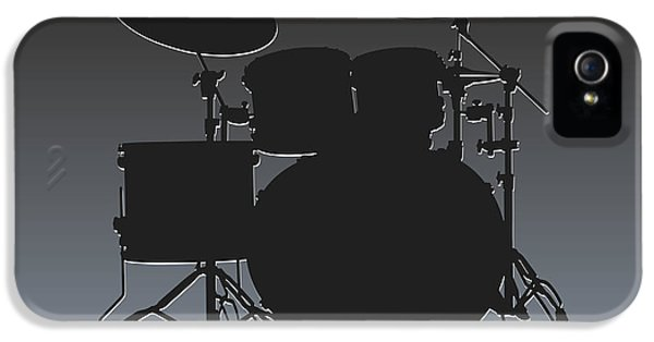 Oakland Raiders Drum Set IPhone 5 Case by Joe Hamilton