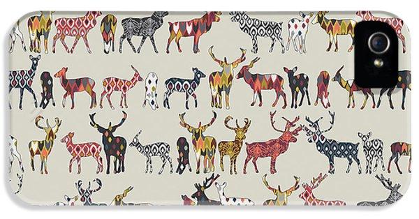 Oatmeal Spice Deer IPhone 5 Case