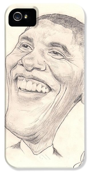 Obama Caricature IPhone 5 Case by Joshua Alexander