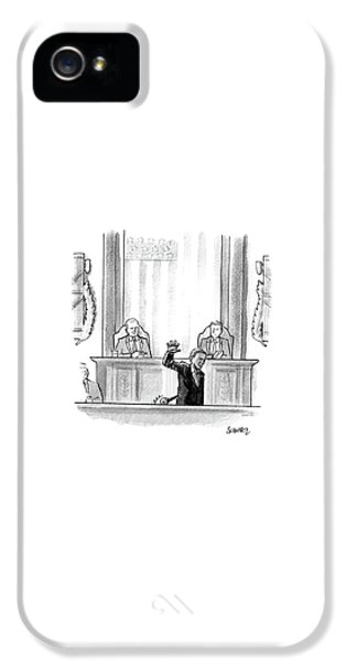 Barack Obama iPhone 5 Case - Obama Dropping A Mic by Benjamin Schwartz