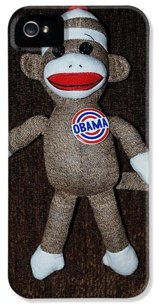 Obama Sock Monkey IPhone 5 Case by Rob Hans
