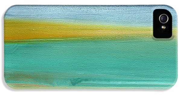 Ocean Blue 3- Art By Linda Woods IPhone 5 Case by Linda Woods