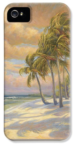 Palm Tree iPhone 5 Case - Ocean Breeze by Lucie Bilodeau