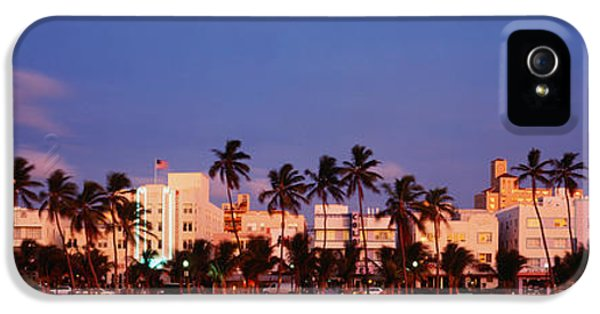 Ocean Drive South Beach Miami Beach Fl IPhone 5 Case by Panoramic Images