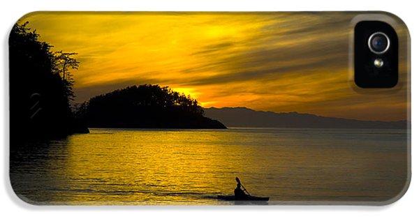 Ocean Sunset At Rosario Strait IPhone 5 Case by Yulia Kazansky
