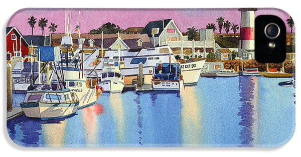 Pacific Ocean iPhone 5 Case - Oceanside Harbor At Dusk by Mary Helmreich