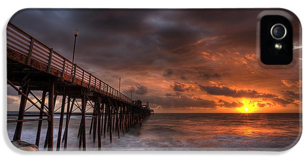 Oceanside Pier Perfect Sunset IPhone 5 Case by Peter Tellone