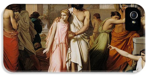 Oedipus And Antigone Or The Plague Of Thebes  IPhone 5 Case by Charles Francois Jalabert