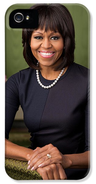 Official Portrait Of First Lady Michelle Obama IPhone 5 Case by Celestial Images