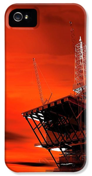 Oil Rig IPhone 5 Case by Victor Habbick Visions