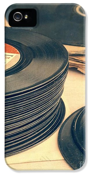 Music iPhone 5 Case - Old 45s by Edward Fielding