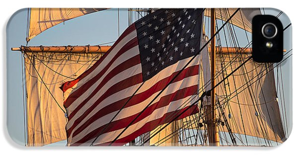 Old Glory IPhone 5 Case by Peter Tellone