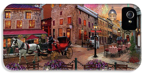 IPhone 5 Case featuring the drawing Old Montreal by David M ( Maclean )