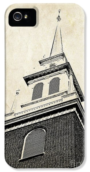 Old North Church In Boston IPhone 5 Case by Elena Elisseeva