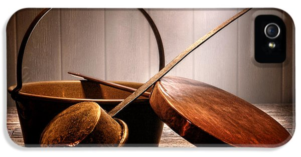 Old Pots And Pans IPhone 5 Case by Olivier Le Queinec