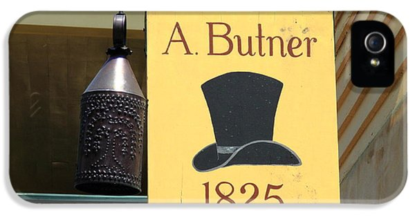 Winston-salem Nc - Old Salem Hat Shop IPhone 5 Case by Frank Romeo