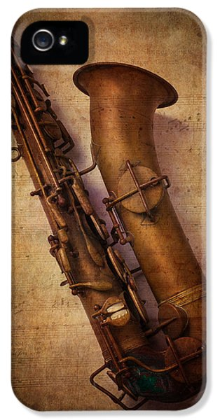 Saxophone iPhone 5 Case - Old Sax by Garry Gay