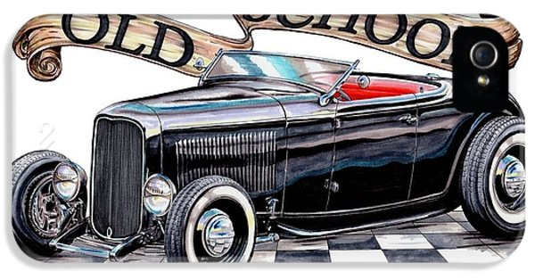 Old School 32 Ford Roadster IPhone 5 Case by Shannon Watts