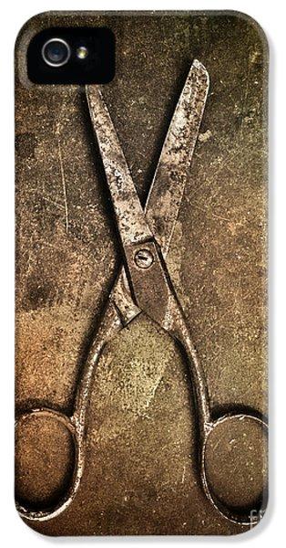 Old Scissors IPhone 5 Case by Carlos Caetano