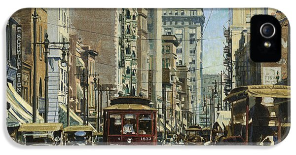 Old St. Louis 11th And Olive IPhone 5 Case by Don  Langeneckert