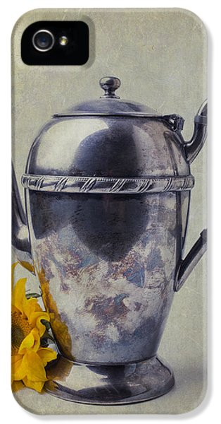 Sunflower iPhone 5 Case - Old Teapot With Sunflower by Garry Gay