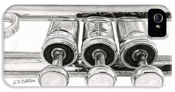 Trumpet iPhone 5 Case - Old Trumpet Valves by Sarah Batalka