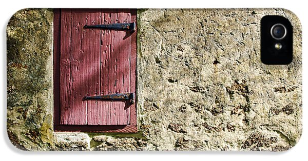 Old Wall And Door IPhone 5 Case by Olivier Le Queinec