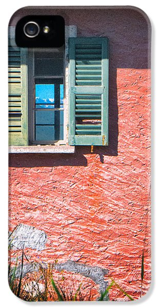 IPhone 5 Case featuring the photograph Old Window With Reflection by Silvia Ganora