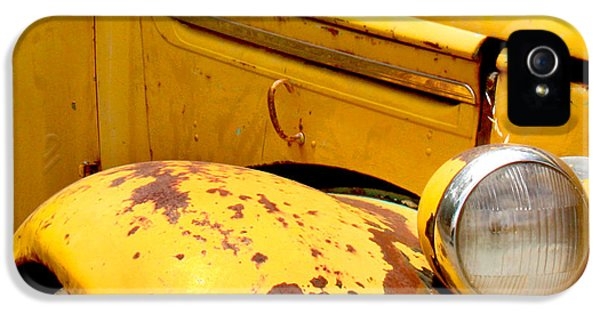 Transportation iPhone 5 Case - Old Yellow Truck by Art Block Collections