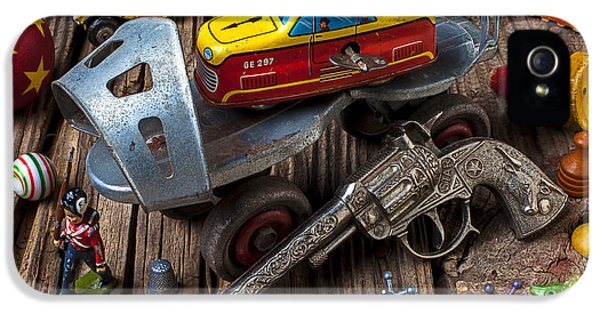 Older Roller Skate And Toys IPhone 5 Case by Garry Gay
