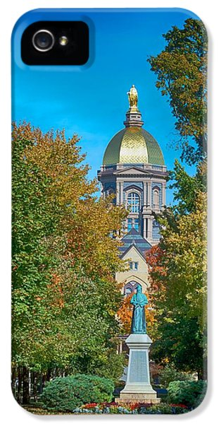 On The Campus Of The University Of Notre Dame IPhone 5 / 5s Case by Mountain Dreams