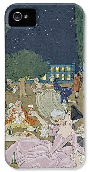 On The Lawn IPhone 5 Case by Georges Barbier