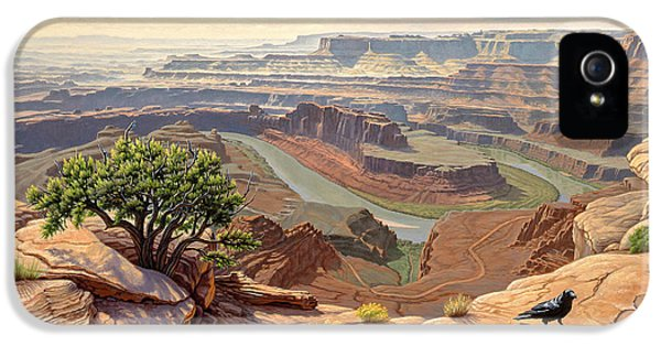 Raven iPhone 5 Case - On The Rim-dead Horse Point by Paul Krapf