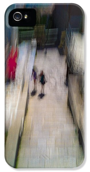 IPhone 5 Case featuring the photograph On The Stairs by Alex Lapidus