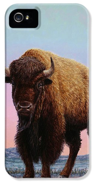 Buffalo iPhone 5 Case - On Thin Ice by James W Johnson