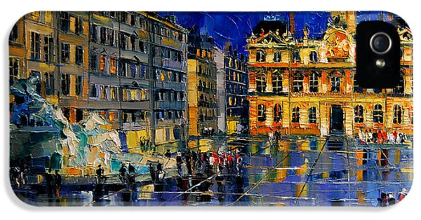 One Evening In Terreaux Square Lyon IPhone 5 Case