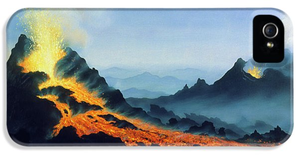 Etna iPhone 5 Case - One Of Two Active Vents On Mt Etna by David Hardy/science Photo Library