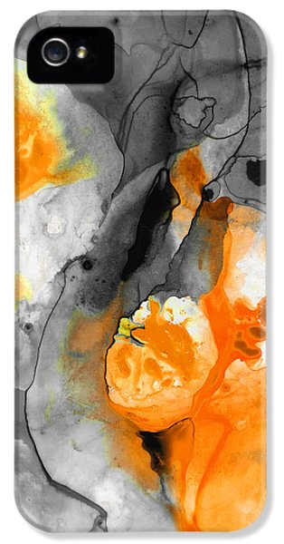 Orange Abstract Art - Iced Tangerine - By Sharon Cummings IPhone 5 Case by Sharon Cummings
