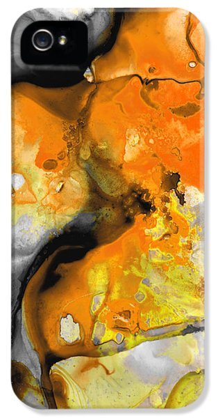 Orange Abstract Art - Light Walk - By Sharon Cummings IPhone 5 Case by Sharon Cummings