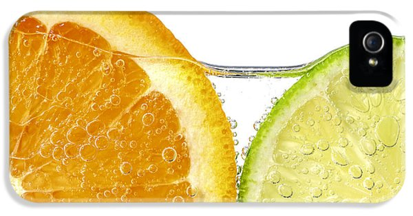Orange And Lime Slices In Water IPhone 5 Case
