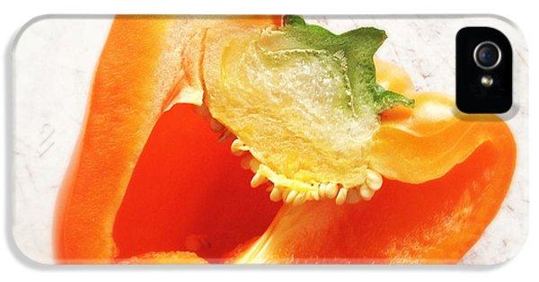 Orange iPhone 5 Case - Orange Bell Pepper - Square Format by Matthias Hauser