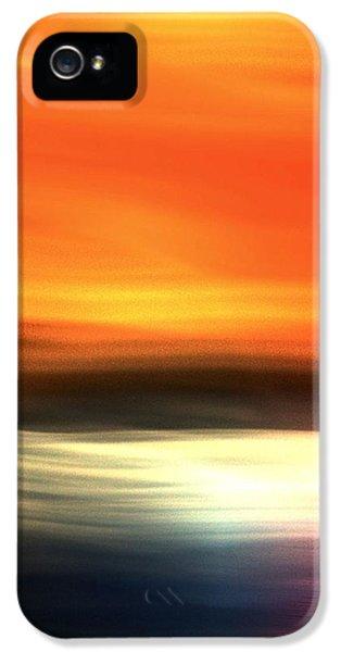 Orange Black Blue IPhone 5 Case by Terence Morrissey