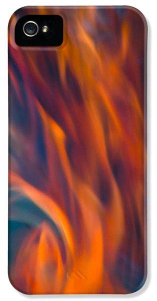 Orange Fire IPhone 5 Case by Yulia Kazansky
