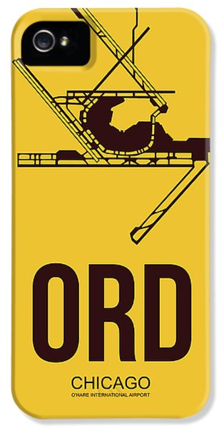 University Of Illinois iPhone 5 Case - Ord Chicago Airport Poster 1 by Naxart Studio