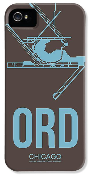 University Of Illinois iPhone 5 Case - Ord Chicago Airport Poster 2 by Naxart Studio