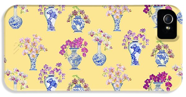 Oriental Vases With Orchids IPhone 5 / 5s Case by Kimberly McSparran