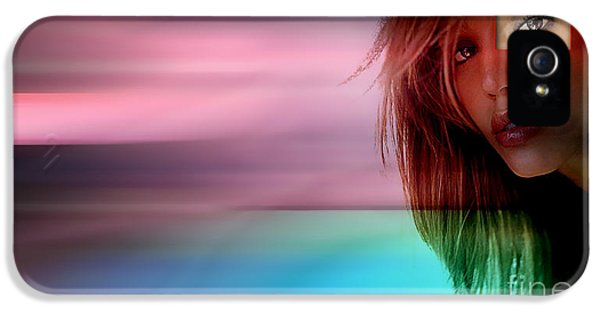 Original Jessica Alba Painting IPhone 5 Case by Marvin Blaine