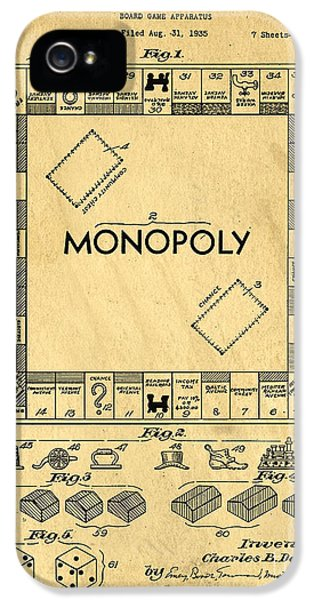 Original Patent For Monopoly Board Game IPhone 5 Case