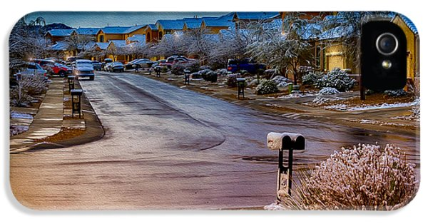 Oro Valley Winter No.54 IPhone 5 Case by Mark Myhaver