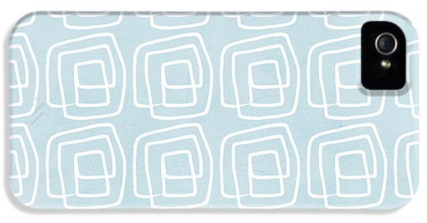 Out Of The Box Blue And White Pattern IPhone 5 Case by Linda Woods
